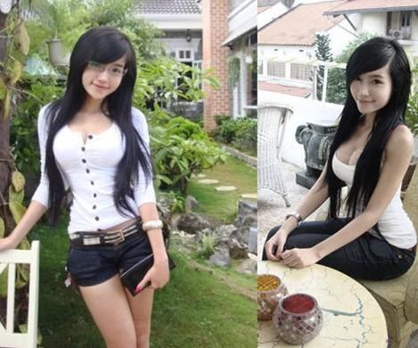 越南90后美女大学生组图清纯也很凶啊!